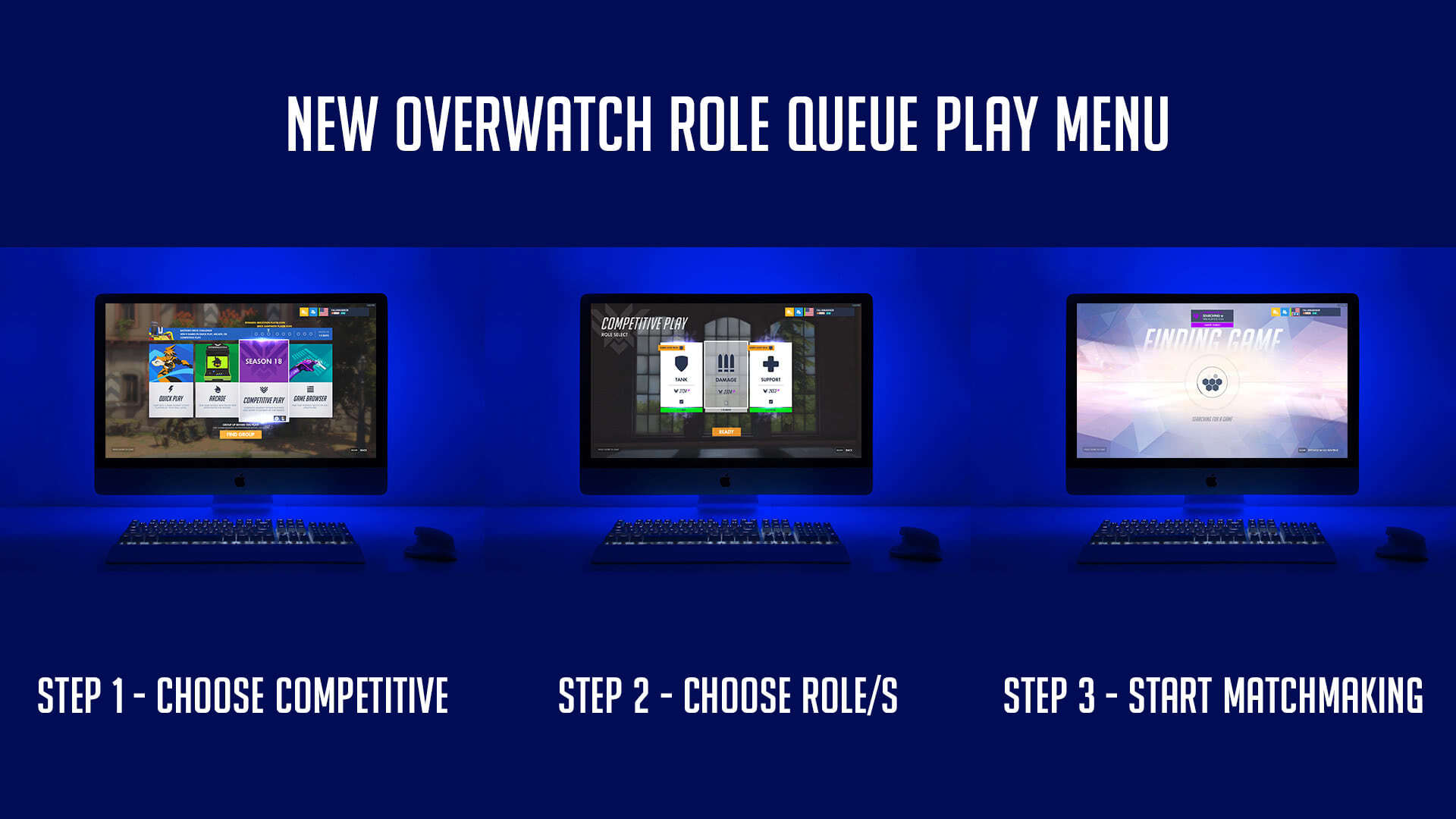 New Overwatch Role Queue Play Menu UI Steps To Start Multiplayer Matchmaking