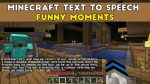 Minecraft Text To Speech Funny Moments Thumbnail | Fall3nWarrior Gaming